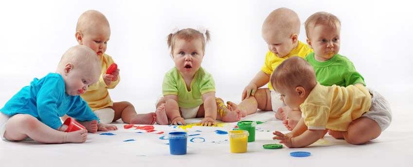Babies painting